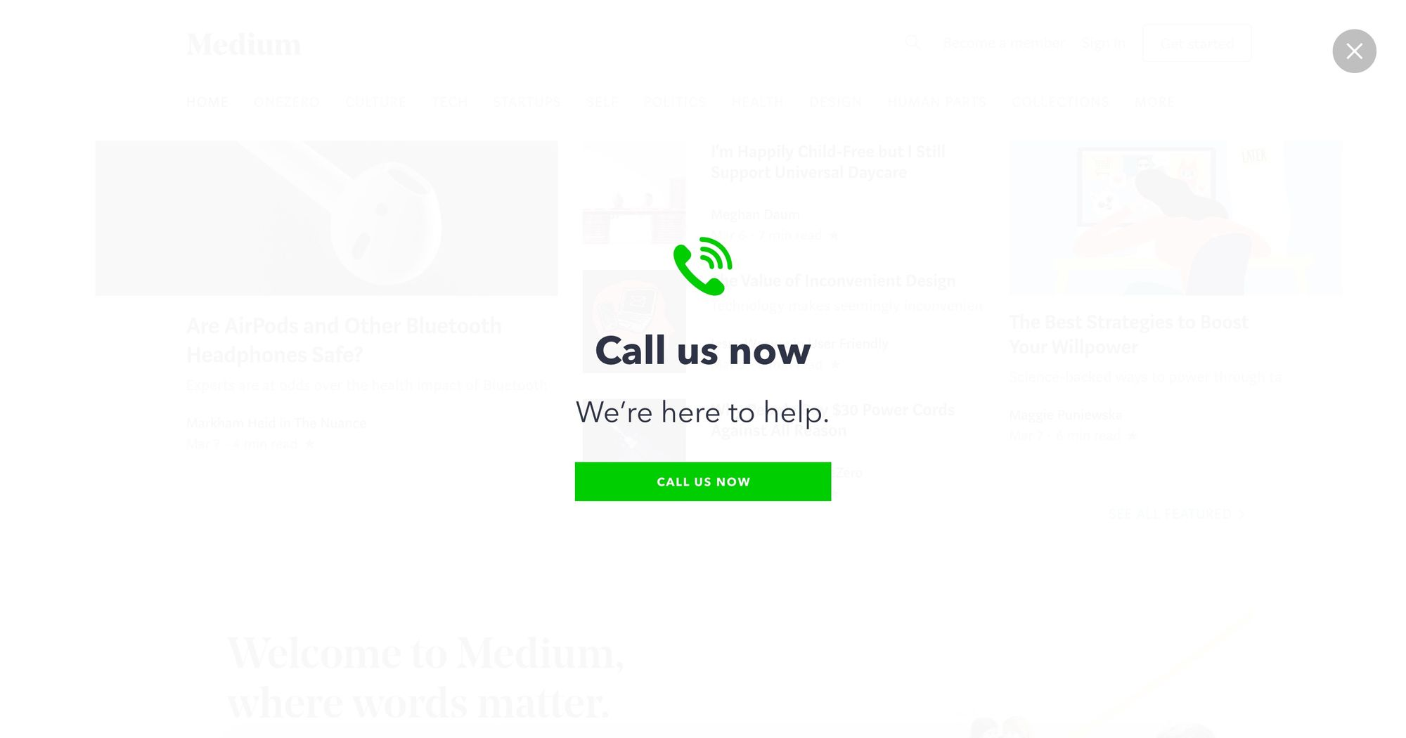 """Get Your Free Demo Today"" - Increase Phone Call Popup Design 01 (Fullscreen Version) 2"