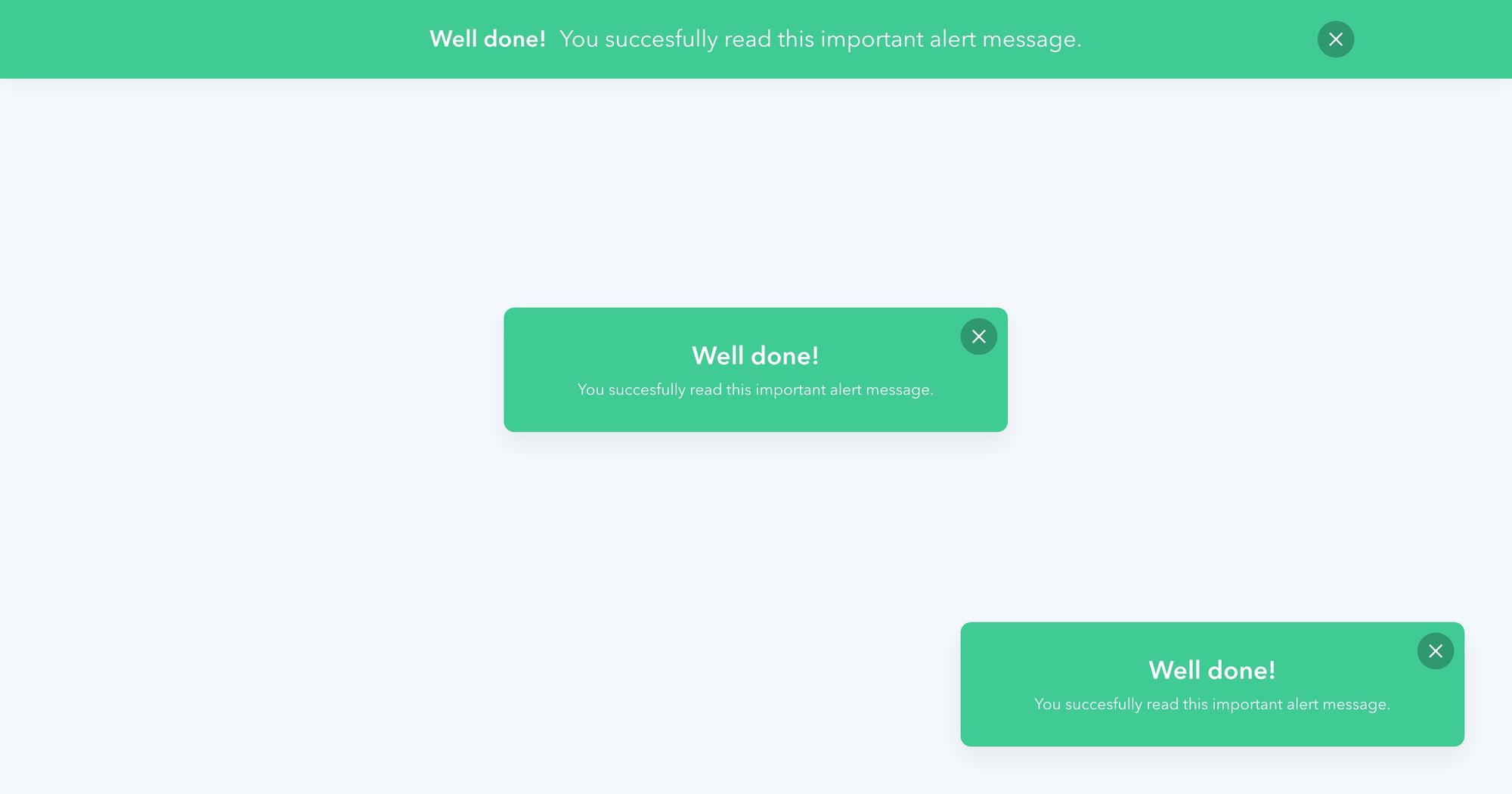 """Well Done"" (Green) - Notification Popup Design 03"