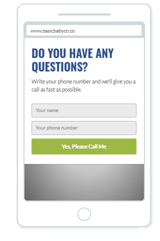"""Please Call Me"" Increase Phone Call Popup Design (Mobile) 4"