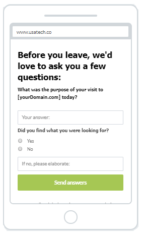"""""""Get Answers"""" Increase Phone Call Popup Design 7 (Mobile)"""