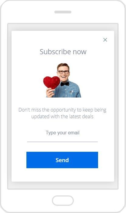 """""""Don't Miss the Opportunity"""" Newslatter Popup Design 16 (Mobile)"""