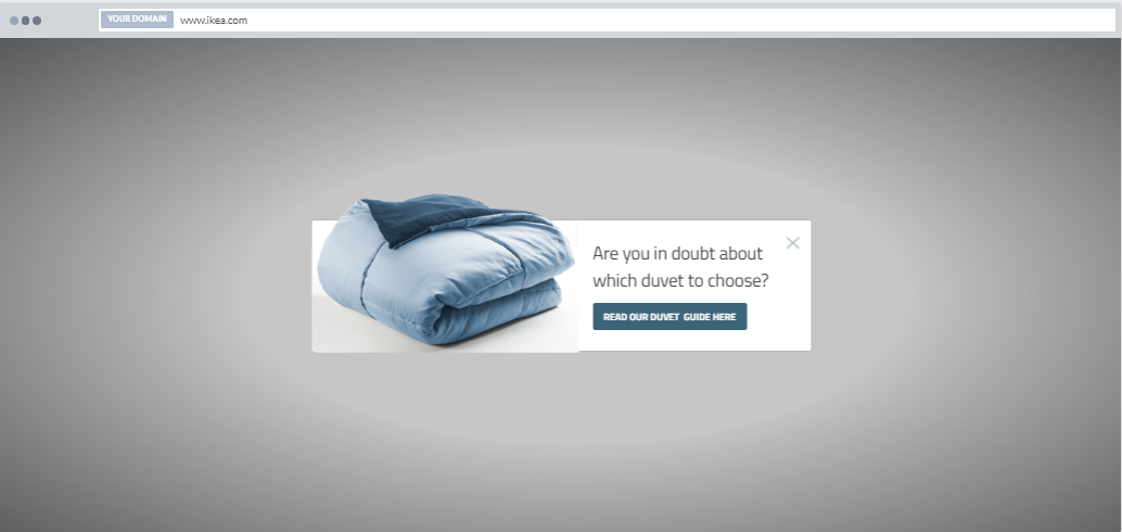 """Duvet Guider"" Product Promotion Popup Design (Center) 9"