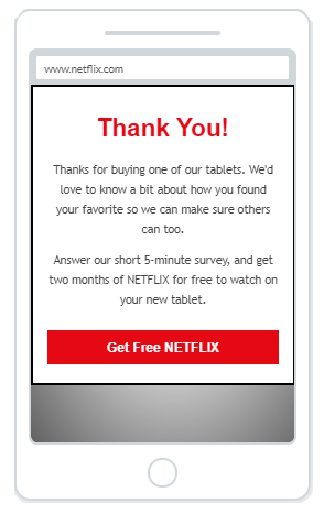 """Get Free Netflix"" Product Promotion Popup Design (Mobile) - 7"