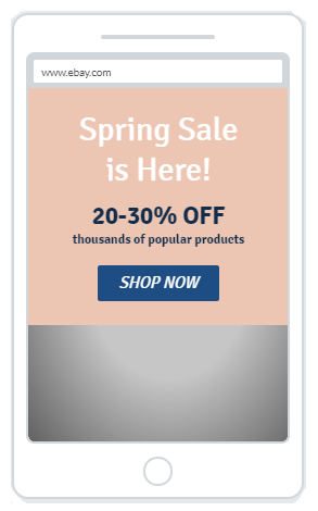 """Spring Sales Discount"" Product Promotion Popup Design 8 (Mobile)"