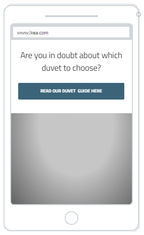 """Duvet Guider"" Product Promotion Popup Design (Mobile) 9"