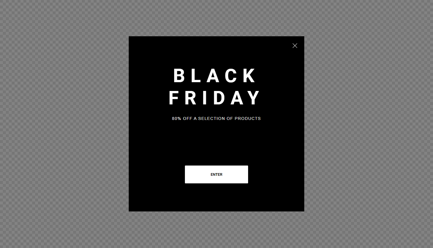 wisepops content blackfriday fullscreen popup design